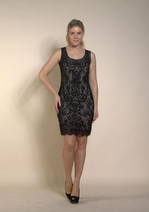 Ellie Beaded Dress With Nude Lining - dresses