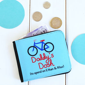 Personalised Men's Bicycle Wallet