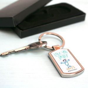 Personalised Child's Artwork Keyring