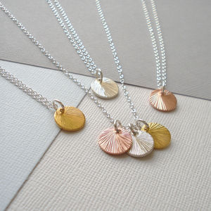 Mixed Metal Brushed Disc Necklace - necklaces & pendants