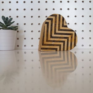 Chevron Heart Box
