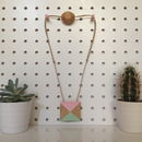 Pink And Green Pyramid Necklace