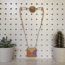 Lilac And Tangerine Pyramid Necklace