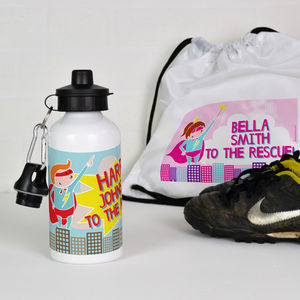 Personalised Water Bottle Super Hero - kitchen