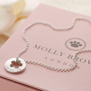 Personalised Silver Open Flower Hope Necklace