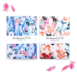 Floral Marble Bridesmaid Notebook Set