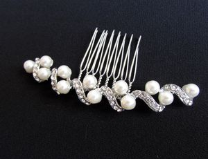 Curvy Crystal And Pearl Hair Comb - women's jewellery