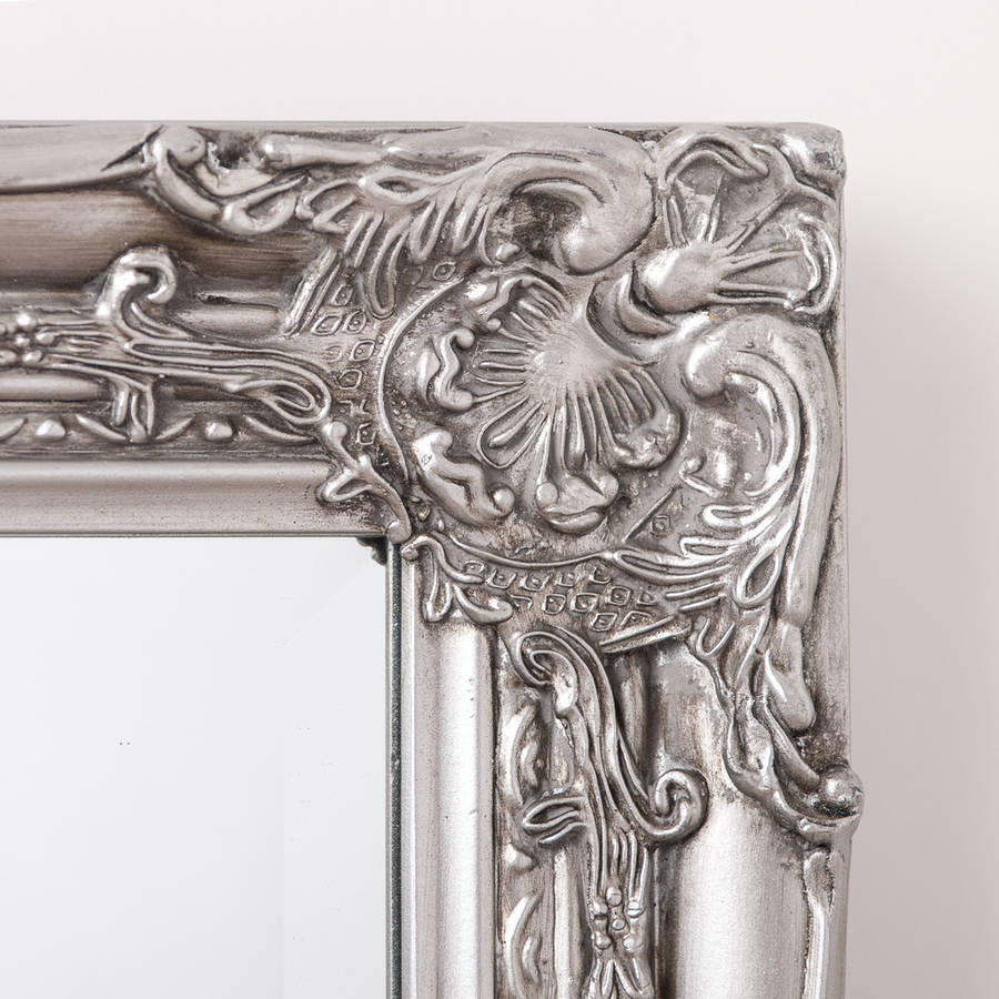 vintage mirror drawing. beautifull distressed vintage style wall mirror · silver pewter drawing