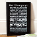 Personalised 'Thank You Dad' Art Print
