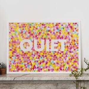 'Quiet' Print