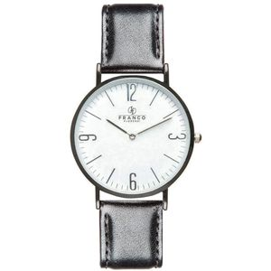 Black Soft Calf Italian Leather Watch