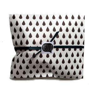 Black Rain Drop Paper Gift Bag