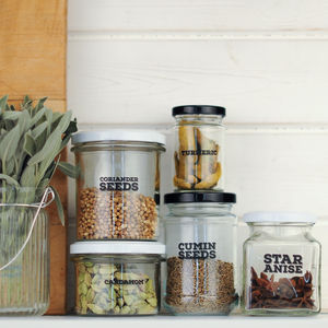 'Really Useful' Pantry Labels: Herbs And Spices