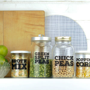 'Really Useful' Pantry Labels: Pulses And Grains