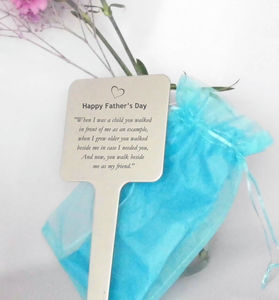 Personalised Father's Day Tree Garden Plaque