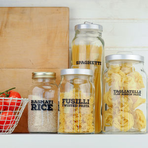 'Really Useful' Pantry Labels: Pasta, Rice And Noodles