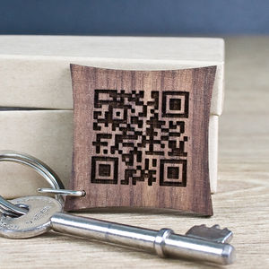 Personalised Secret Message Qr Code Keyring - gifts for geeks