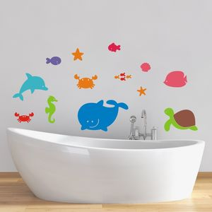 Sea Creatures Wall Stickers - children's room