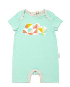 Lucy And Sam Cloud Summer Romper - babygrows