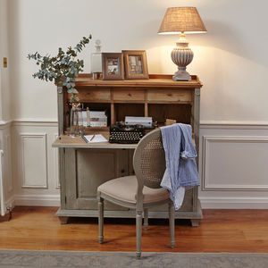 Woodcroft Colonial Mouse Grey Home Office - furniture