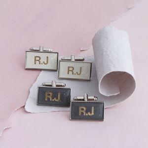 Personalised Gold Monogrammed Cufflinks