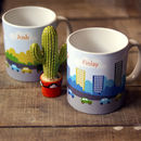 Personalised 'Traffic Mug' Ceramic