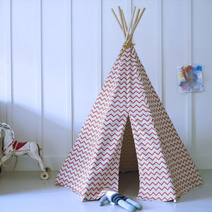 Immy Zigzag Play Teepee, Designed By Nobodinoz - tents, dens & wigwams