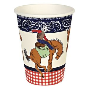 Howdy Cowboy Western Themed Party Cups