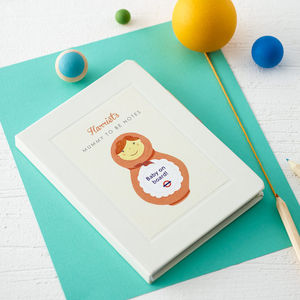Personalised 'Baby On Board' Mummy To Be Notebook