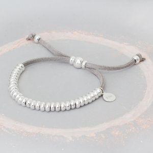 Silana Personalised Suede Bracelet - bracelets & bangles