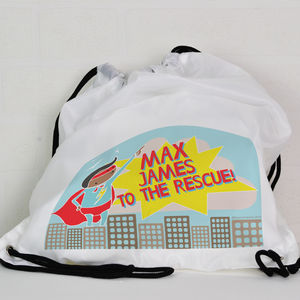 Personalised Kit Bag / Swimming Bag Super Hero