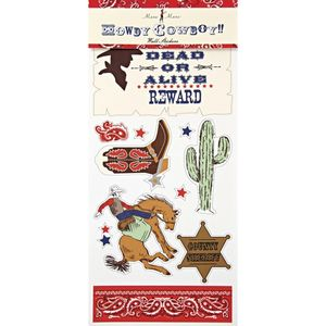 Howdy Cowboy Western Themed Party Bedroom Wall Stickers