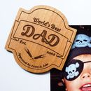 World's Best Dad Beer Label Fridge Magnet