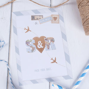 Love Is In The Air Wedding Stationery - save the date cards