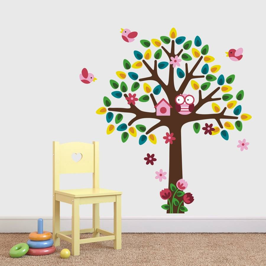 Girls Nursery Tree Wall Sticker Part 91