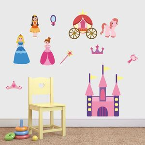 Princess Set Fabric Wall Stickers