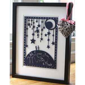 'Love You To The Moon' Picture Or Papercut - personalised