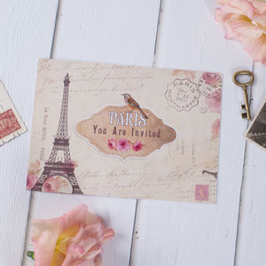 Parisian Wedding Stationery - invitations