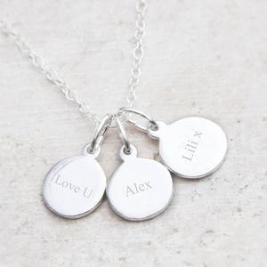 Elizabeth Engraved Charm Necklace - women's sale