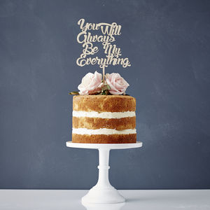 Personalised Song Lyrics Wooden Wedding Cake Topper - cake decoration