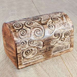 Let's Grow Old Together Personalised Wooden Box - jewellery storage & trinket boxes