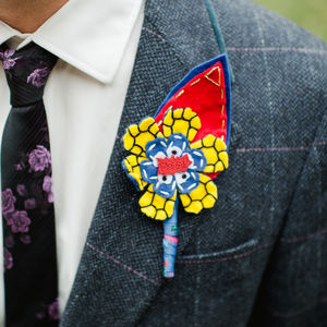 Comic Book Superhero Wedding Buttonhole - flowers, bouquets & button holes