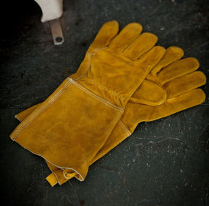 Suede Gauntlet Gloves - home accessories