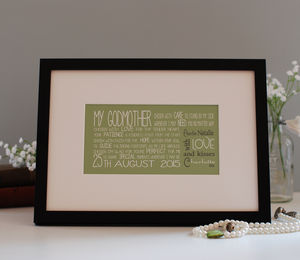Personalised Godparent Gift - new in home
