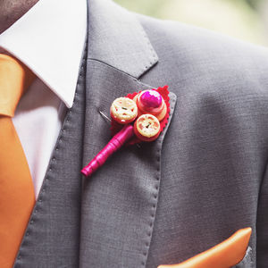 Summer Bright Wedding Buttonhole