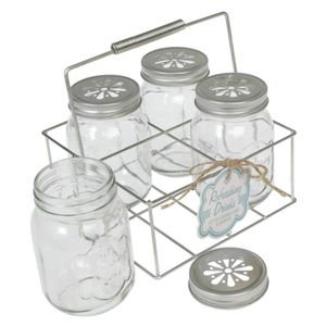 Set Of Four Drinking Jars In Carrier