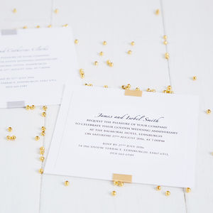Golden Wedding Anniversary Elegance Invitation - wedding, engagement & anniversary cards