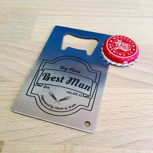 Best Man Gift Bottle Opener Credit Card - drink & barware