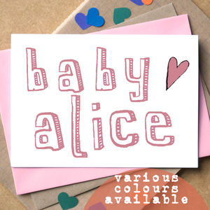 Personalised New Baby Card - new baby & christening cards
