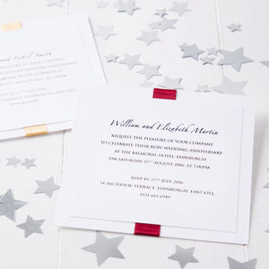 Ruby Wedding Anniversary Elegance Invitation - wedding stationery